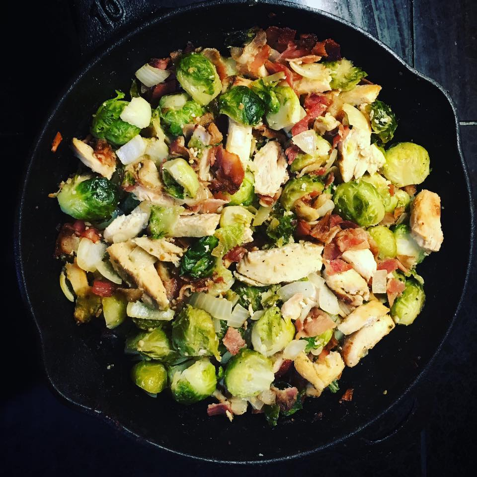 One pan skillet chicken brussels sprouts innovative for Chicken and brussel sprouts skillet