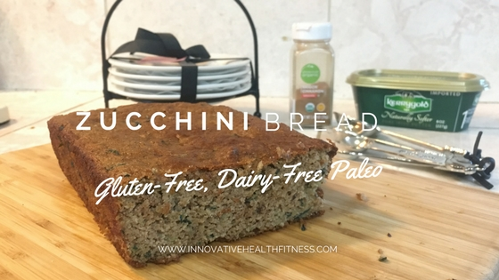 Zucchini Bread on a wooden cutting board